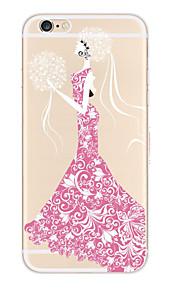 kakashi kant afdrukken TPU schilderij zachte hoes voor de iPhone 6s / 6 / 6s plus / 6 plus (boeket godin)