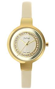 Mulheres Relógio de Moda Quartz Couro Banda Preta / Branco / Marrom marca
