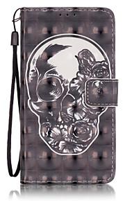 Corpo Completo carteira / Entrada de Cartão Other Couro Ecológico Duro 3D Painted Patterns Case Capa Para Samsung GalaxyA5(2016) /