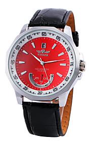 WINNER Masculino Relógio Elegante relógio mecânico Automático - da corda automáticamente PU Banda Preta Vermelho Azul