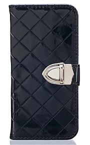 Hel kropp plånbok / Korthållare / Stötsäker Solid Färg PU-läder Mjuk Can insert card, drop Fallet täcker för Samsung GalaxyA5(2016) /