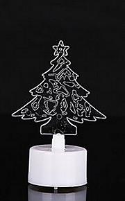 10pcs / embalar árvore de Natal colorido levou velas luz da noite
