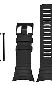 Noir Caoutchouc durable Bracelet Sport Pour Suunto Regarder 24mm