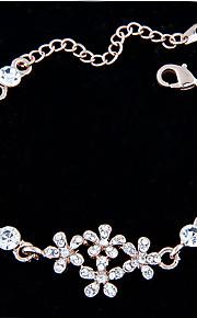 Kæde & Lænkearmbånd / Charm-armbånd 1pc,Gylden / Hvid Armbånd Moderigtig Legering / Rhinsten Smykker Dame