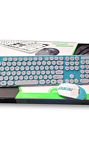 Draadloos USB Toetsenbord & MuisForWindows 2000/XP/Vista/7/Mac OS