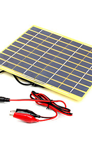 5W 18V A Grade High Efficiency Monocrystalline Solar Panel Charger for 12V Battery with Alligator Clip(SWB5018B)