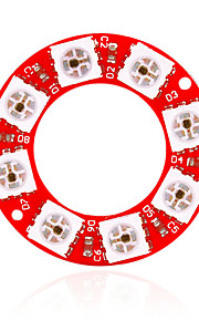 KEYES WS2812 - Eight Full-Color RGB LED Lamp Module (Red)