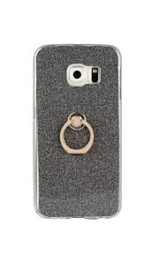tilbage Stötsäker / med stativ Glittrig TPU Mjuk Flash powder with ring clasp Fallet täcker för Samsung GalaxyS7 edge / S7 / S6 edge plus