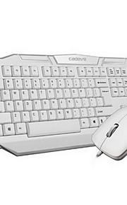 Bekabeld USB Toetsenbord & MuisForWindows 2000/XP/Vista/7/Mac OS