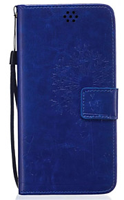 Hel kropp plånbok / Korthållare / med stativ Maskros PU-läder Mjuk 可插卡.带支架.全包防摔 Fallet täcker för Samsung Galaxy Note 5 / Note 4