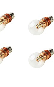 5W E26/E27 LED-globepærer A60(A19) 25 SMD 2835 460 lm Varm hvit Dekorativ AC 100-240 / AC 110-130 / AC 85-265 / AC 220-240 V 4 stk.