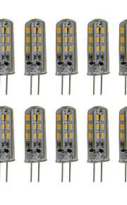 3W G4 LED Bi-pin Lights 24 SMD 3014 300 lm Warm White / Cool White Decorative DC 12V 10 pcs/Pack