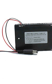 Landa Tianrui TM-Double Output 9V Battery Case(1.5V  6-AA) to DC Power Adapter for Smart Car /Robort (15+/-2cm cable)
