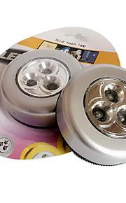 3-conducido pat toque de luz de la lámpara de luz nocturna armario lectura