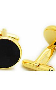 Manchetter 1 par,Ensfarvet Gylden Moderigtig Manchetknapper Mænds Smykker