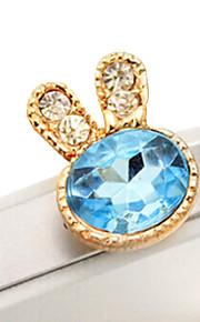 9520 grön zirkon kanin diamant mobiltelefon damm plugg