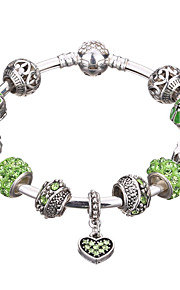 Charm-armbånd / Bangles / Manchetarmbånd / Strand Armbånd / Silver Bracelets 1pc,Sølv / Rød / Grøn Armbånd Holdbar / Moderigtig / Yndig