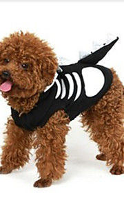 Gatos / Perros Disfraces / Camiseta Negro / Blanco Verano / Primavera/Otoño Cráneos Cosplay / Halloween, Dog Clothes / Dog Clothing-Other
