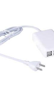 4 porte USB Porte Multi Presa US caricatore domestico con cavo per iPad / per il cellulare / Per Altro Pad / For iPhone5V , 1A / 2,1A /