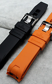20mm/22mm Silicone Rubber Watch Strap with Deployment Buckle for Omega Seamaster 2907/2909