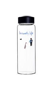 garrafa de água de vidro diária portátil de viagens /
