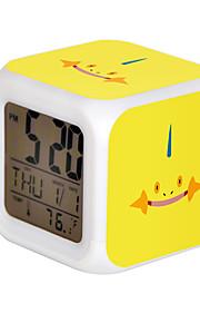 Poke Ball Colorful Flash Cartoon Alarm Clock-29#