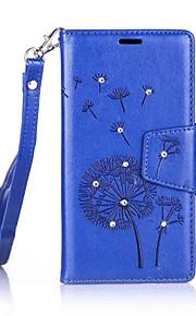 Cuerpo Completo billetera Diente de león Cuero Sintético Duro Dandelions    Diamond Cubierta del caso para NokiaNokia Lumia 650 / Nokia