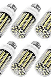 12W E14 / E26/E27 LED-kornpærer T 136 SMD 5733 1100 lm Varm hvit / Kjølig hvit Dekorativ AC 220-240 V 6 stk.