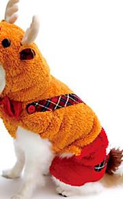 Katte / Hunde Kostume / Jumpsuits Gul / Guld Vinter / Forår/Vinter Dyremønster Halloween, Dog Clothes / Dog Clothing-Other