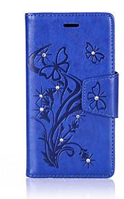 풀 바디 지갑 / 카드 홀더 / 충격방지 / 먼지방지 / 라인석 / 스탠드 나무 인조 가죽 하드 Card Holder   Wallet  Shockproof     Rhinestone    Dustproof    with Stand케이스 커버를