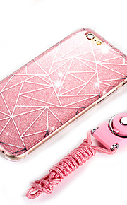 tilbage Other Glitterskin TPU Blød Fashionable+Perfect fit Your Phone+Shining Bright+Trendy lanyard Tilfælde dække for AppleiPhone 6s