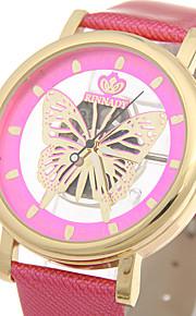 Mulheres Relógio Elegante / Relógio de Moda / Relógio de Pulso Quartz / Couro Banda Legal / Casual Preta / Branco / Marrom / Roxa / Rose