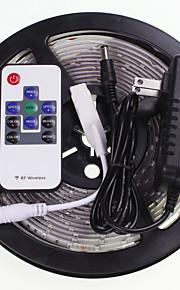 5m 16.4ft עמיד למים RGB 300x5630 SMD LED רצועות אור הוביל גמיש + 10 אספקת החשמל 2a מפתח RF 12v ac100-240v
