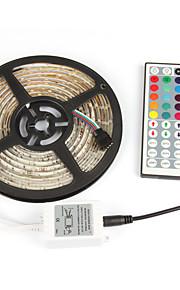 # 5 M 300 2835 SMD RGB Vanntett / Selvklebende W Fleksible LED-lysstriper DC12 V