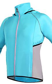 스포츠 자전거/싸이클링 져지 / 윈드브레이커(바람막이) 남성의 긴 소매 빠른 드라이 / 먼지 방지 / 방풍 / 선크림 폴리에스터 클래식 그린 / 레드 / 블루 S / M / L / XL / XXL / XXXL 사이클링/자전거 여름