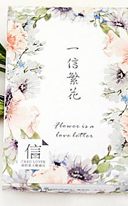 "Lovers Ab13 Letter Postcard Suit ""A Letter Of Flowers"" Greeting Card 30 Into"