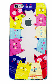 Cat Pattern Material Transparent TPU Phone Case for iPhone  6 6S  6 Plus 6S Plus
