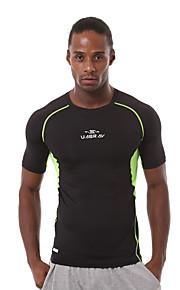 Running T-shirt / Sweatshirt Men's Short Sleeve Breathable / Quick Dry / Sweat-wicking / Comfortable Nylon / Chinlon