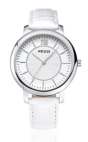 kezzi simple style black color band quarrz couple watch 1333D