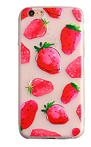 de volta Congelado Fruta TPU Macio Embossed ,Scrub Case Capa Para Apple iPhone 6s Plus/6 Plus / iPhone 6s/6