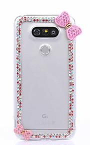 DIY Pink Bowknot Pattern PC Hard Case for Multiple LG G3 G4 G5 G5SE V10 K10 K7 K4