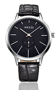 kezzi simple style black color band quarrz couple watch1099D
