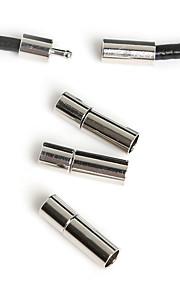 Hole Size 4mm Rodium 10Pcs Smykker