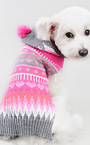 Winter and Autumn Holloween White Bone Skeleton Christmas Rose Striped Dog Sweater with Hoodie Dog Clothes