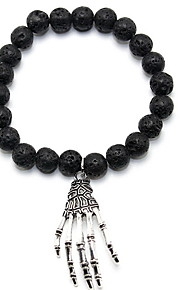 Strand Bracelets Black Stone Skull Punk Style Daily / Casual Jewelry Gift