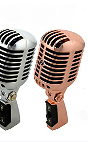 Professional Wired Vintage Classic Microphone Top Quality Dynamic Moving Coil Mike Deluxe Metal Vocal Old Style KTV MIC