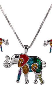 kan polly europa og usa personlighed elefant vedhæng halskæde øreringe sæt