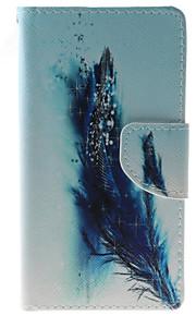 풀 바디 지갑 / 카드 홀더 / 충격방지 / 먼지방지 / 스탠드 깃털 인조 가죽 소프트 Wallet/With Stand 케이스 커버를 들어 HTC HTC Desire 626
