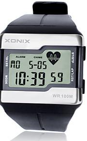 Masculino Relógio Esportivo / Relógio de Moda / Relógio de Pulso DigitalLCD / alarme / Monitor de Batimento Cardíaco / Luminoso /