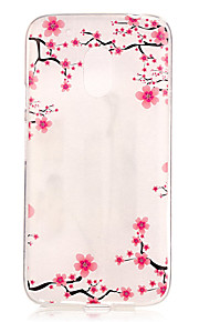 Capa traseira IMD / Transparentes / Em relevo Flor TPU Macio Case Capa Para Motorola Moto G4 Play